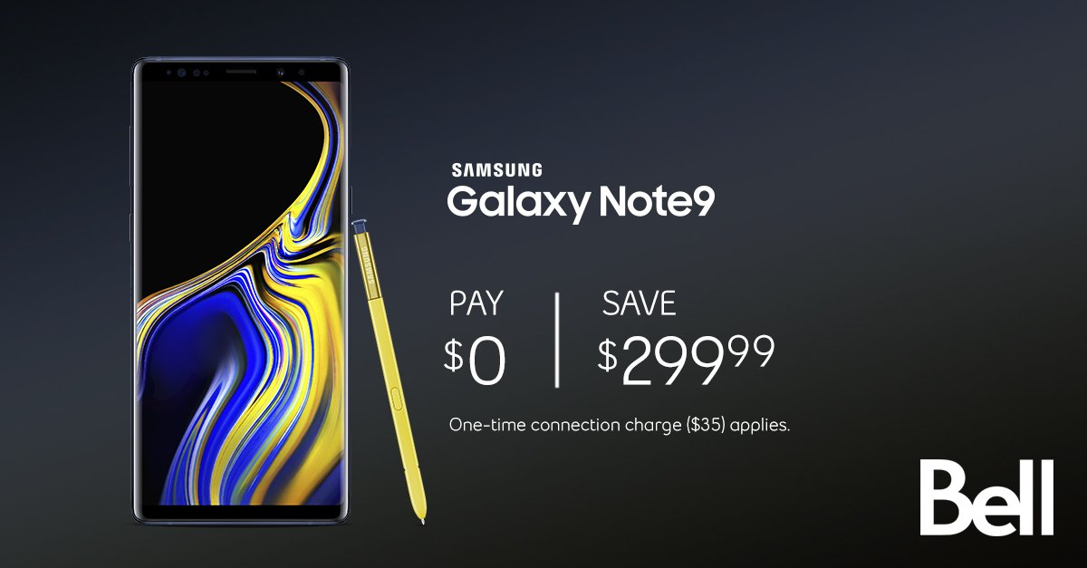 Bell On Twitter The Bell Black Friday Event Get The Samsung Galaxy Note9 Starting At 0 On Select 2 Year Plans Plus Get Bonus Data Visit Https T Co Cm3kxo3itc Bellblackfriday Https T Co Cvb0k7rxln