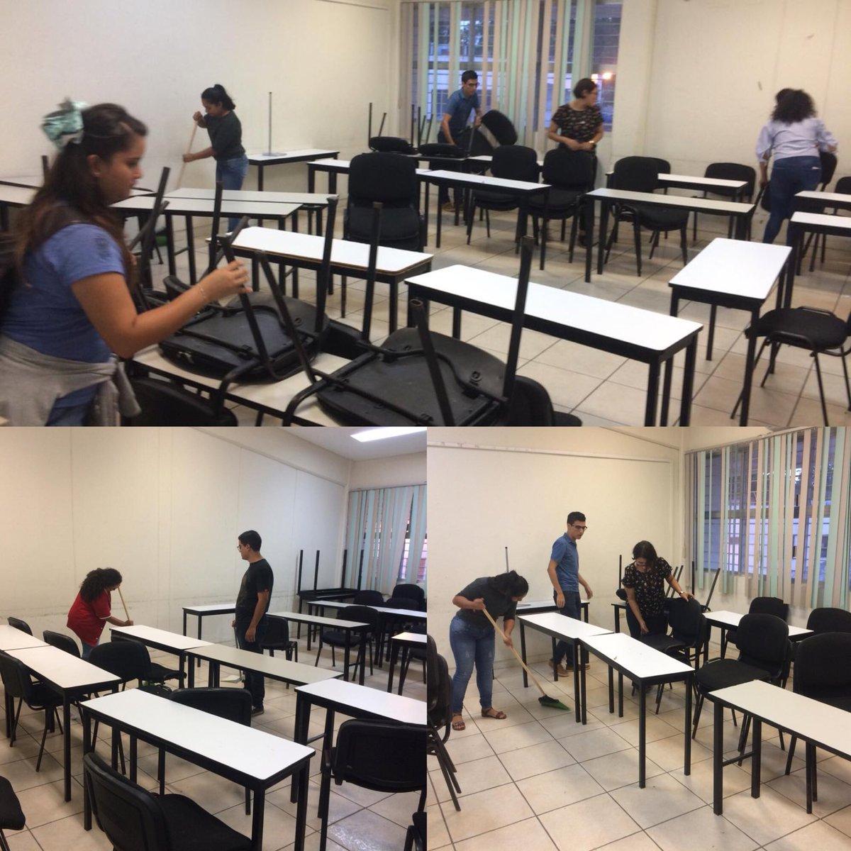 También se suman los alumnos de Psicología, a la limpieza de sus áreas 👏👏👏🥳 .   Esto es el GEN UJAT la cooperación y la solidaridad 👍🏻👏 #ComoNoSentirnosOrgullososDSCS  #GenUJAT