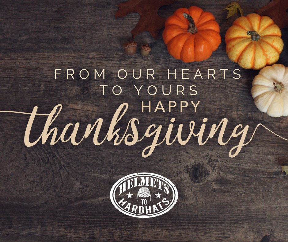 On Thanksgiving, remember to give thanks to all the brave men and women who sacrifice so much for our freedoms.  Helmets to Hardhats wishes a Happy Thanksgiving to all who have served and are currently serving.<br>http://pic.twitter.com/evd6oQcu8T