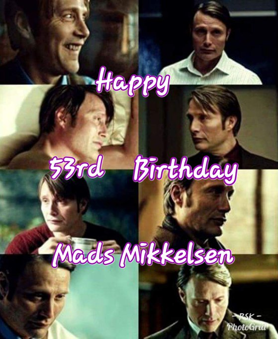 Happy Birthday Mads Mikkelsen! May this day bring you all the things that make you smile.