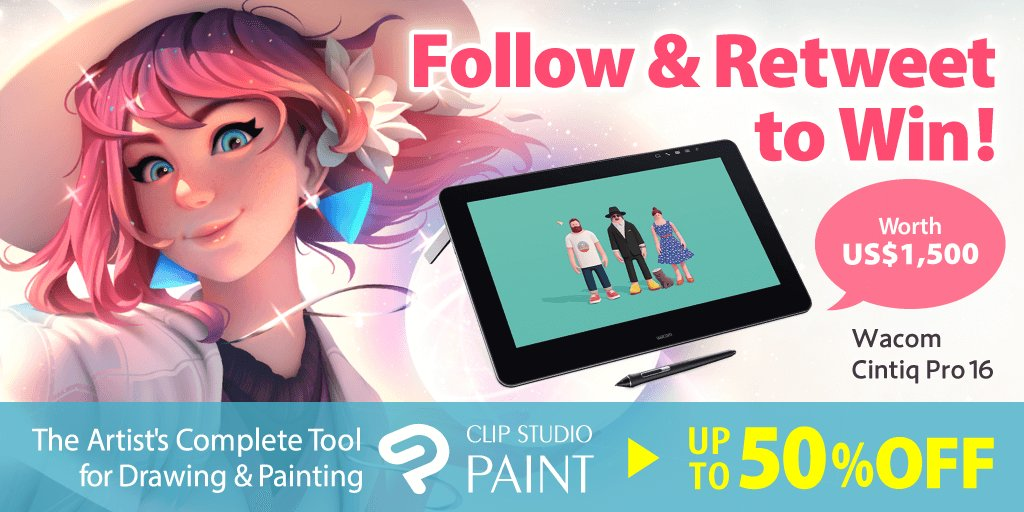 You win Wacom Cintiq Pro 16 by follow & retweet in this account! https://www.clipstudio.net/en/promotion/campaign_notes/…