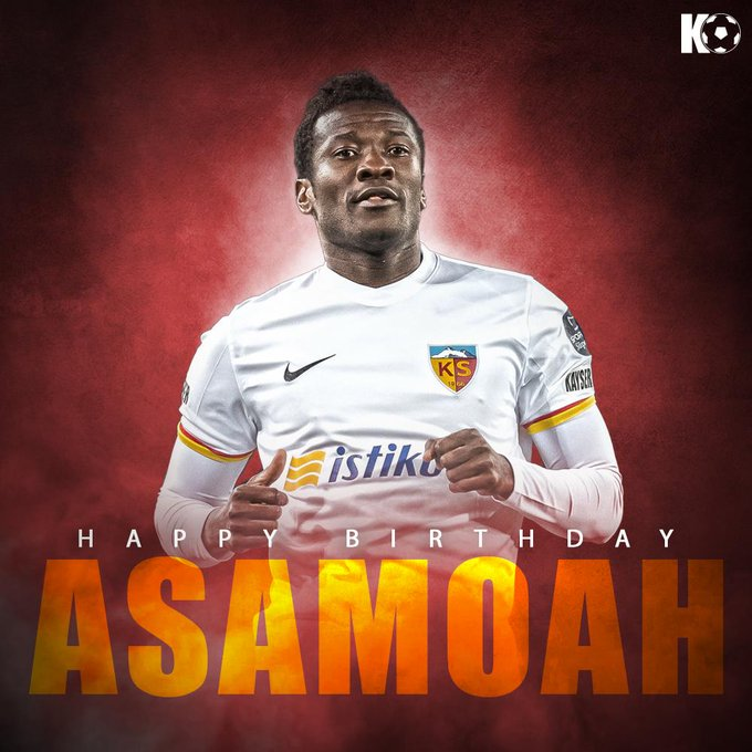 The Ghanaian legend turns 33 today! Join in wishing Asamoah Gyan a Happy Birthday!