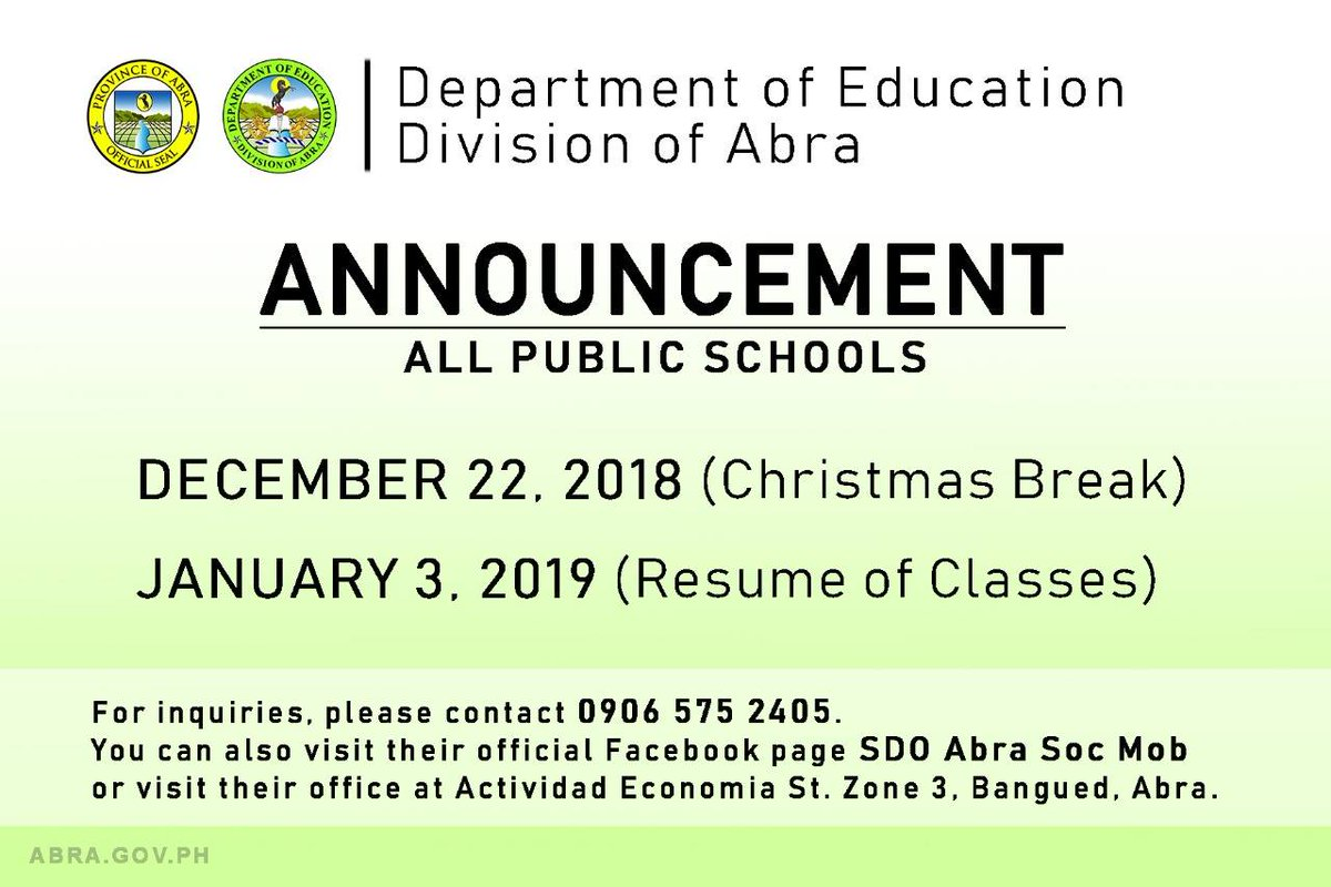 Abra Province On Twitter All Public Schools Are Expected To Have