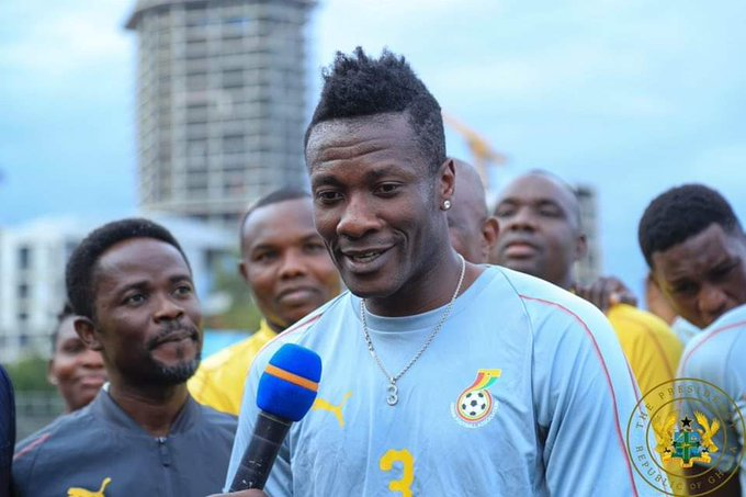 Happy Birthday to Africa\s top scorer at World Cup Asamoah Gyan ( Remessage = Best Like = Legend