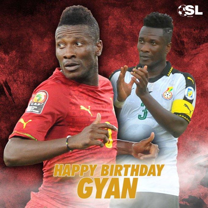 | Happy Birthday to Ghana\s all-time top goalscorer, Asamoah Gyan!