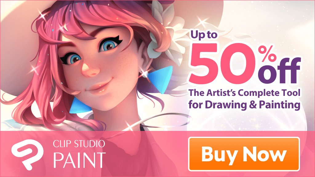 [Black Friday Sale] Up to 50% OFF From November 22 (Thu) to 27 (Tue) Don't miss this chance! https://www.clipstudio.net/en/