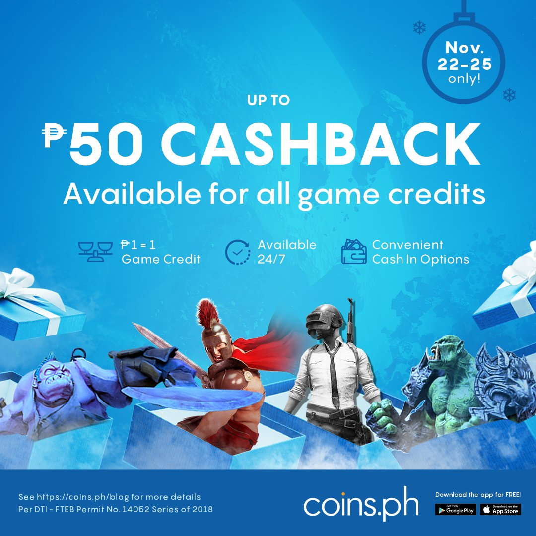 Coinsph Twitter Garena 50 Shell Up To Cashback For Steam Wallet Codes Shells Razer Pins And More Promo Is From Nov 22 25 Only Tcs Apply Http Bitly 2pfkqr2