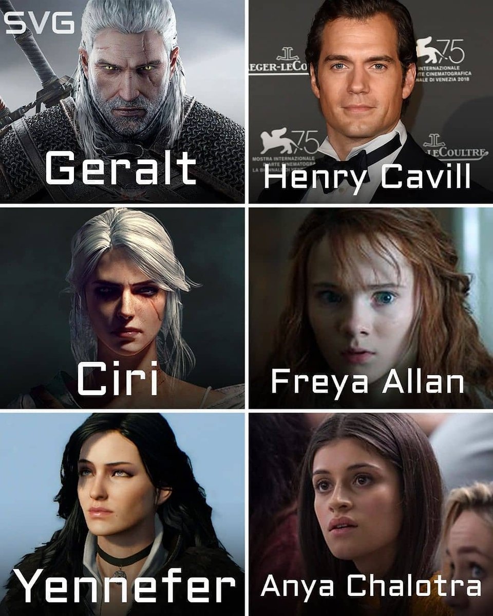The full cast for Netflix&#39;s &quot;The Witcher&quot; has finally been revealed! Here&#39;s the main cast for the serial spinoff of the bestselling video game franchise. - Henry Cavill - Geralt - Freya Allan - Ciri - Anya Chalotra - Yennefer - Jodhi May - Calanthe #thewitchernetflix #thewitcher<br>http://pic.twitter.com/tVnfvrf3vi