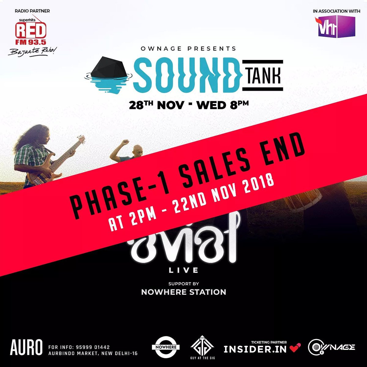 2 hours to go! Phase 1 tickets are almost sold out and shut in two hours!  @avialofficial @aurokitchenbar @vh1india @redfmindia  @insiderdotin @Ownage_Ent #TheFutureIsLive #alternativerock #alternativerockmusic #avialband #alternativerockband #delhi #delhigigs #indiemusic #musicpic.twitter.com/4q3E9sv5uY