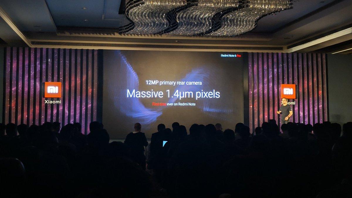 You get a bigger sensor, bigger Pixel size and a larger aperture on the #RedmiNote6Pro @XiaomiIndia