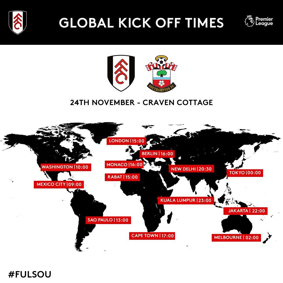 Fulham Vs Southampton Fa Premier League 2018 2019