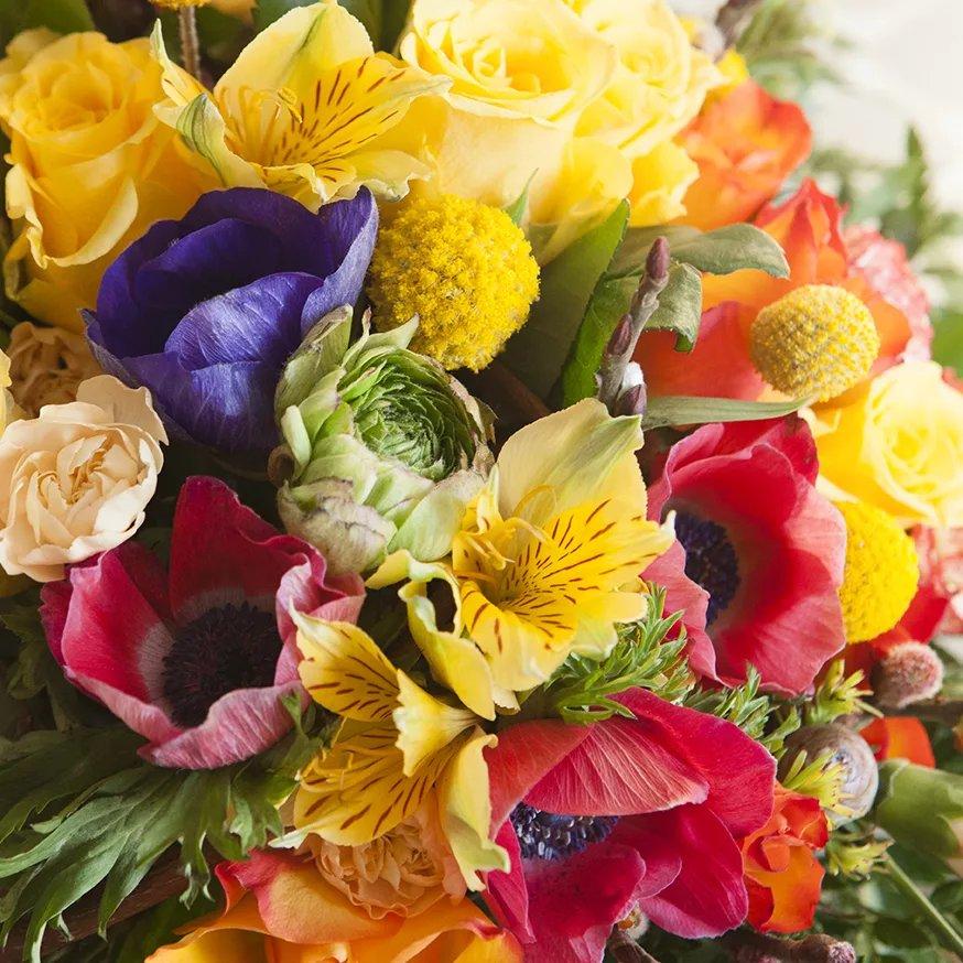 Осенний букет цветов на день рождения, вместе света