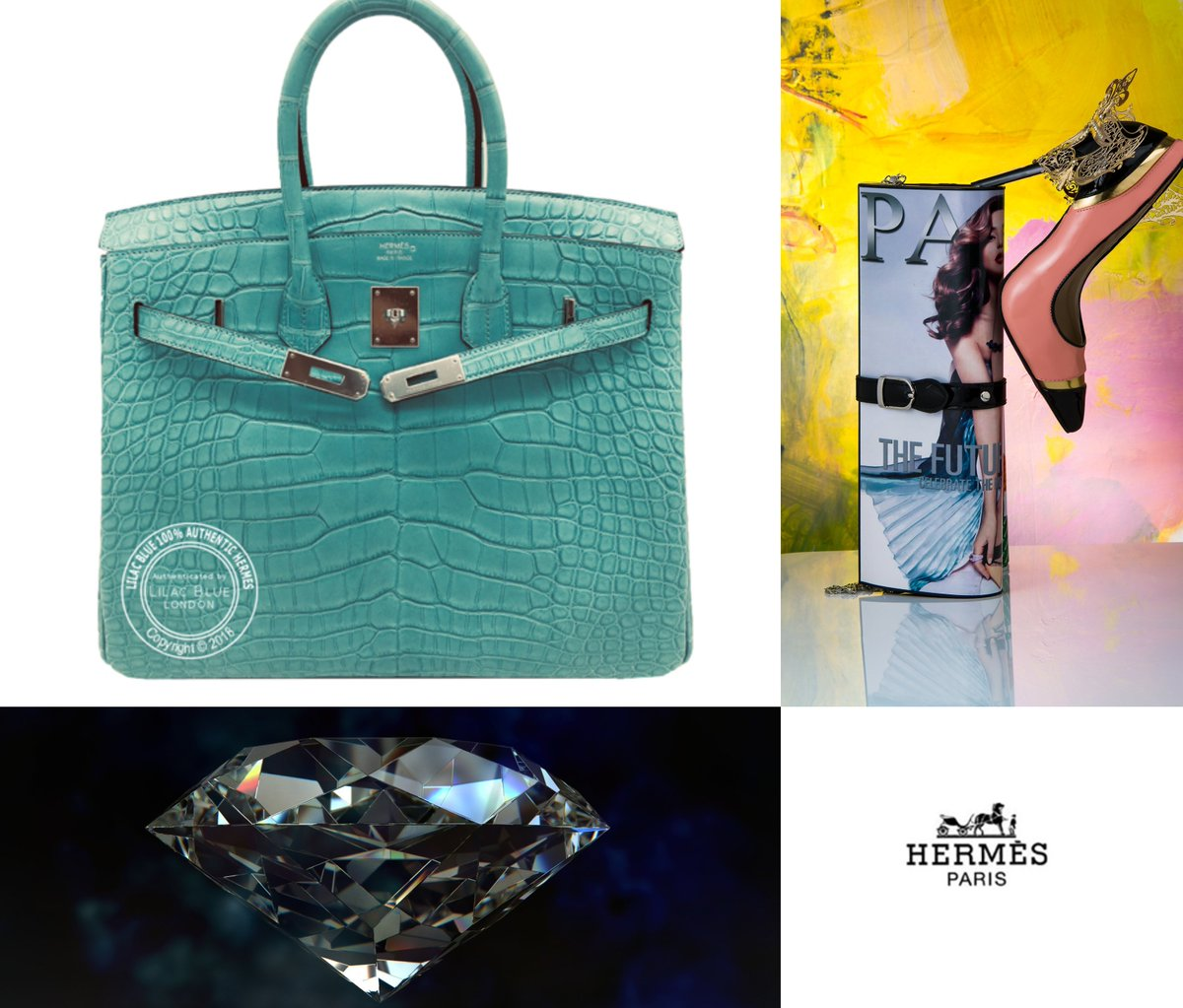 a3bce22d2f Lilac Blue London Hermes Birkin 35cm Bleu St Cyr Matte Alligator PHW It s a  paler and more muted than Turquoise and will look great all year round.
