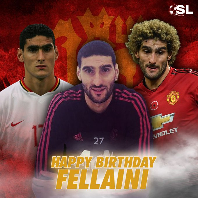 | Happy Birthday to Manchester United midfielder, Marouane Fellaini!
