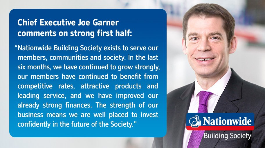 Nationwide interims: Chief Executive Joe Garner comments on strong first half