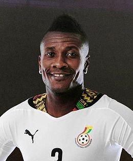 Happy birthday to ASAMOAH GYan black stars captain aka baby jet