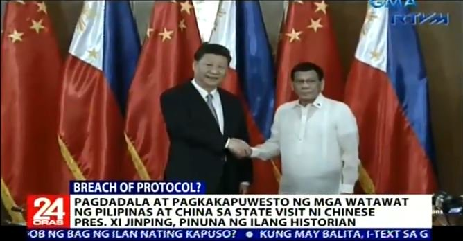 Image result for duterte xi jinping state visit protocol breach