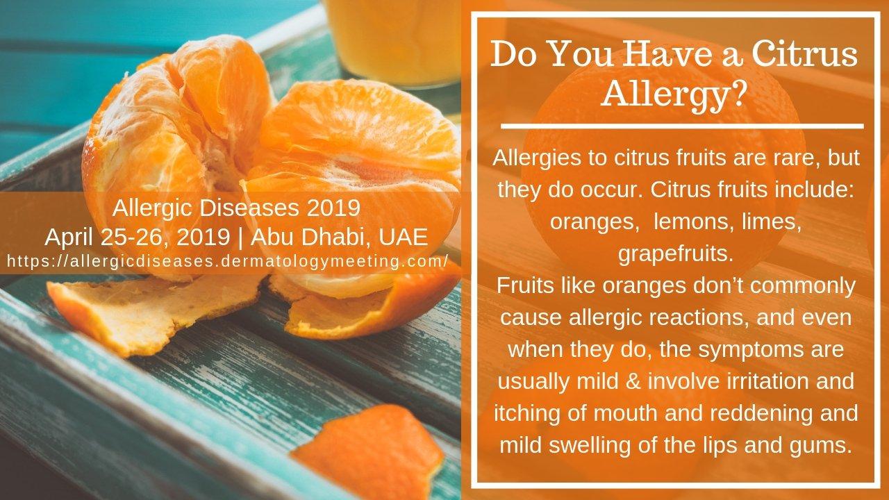 citrus allergi symtom