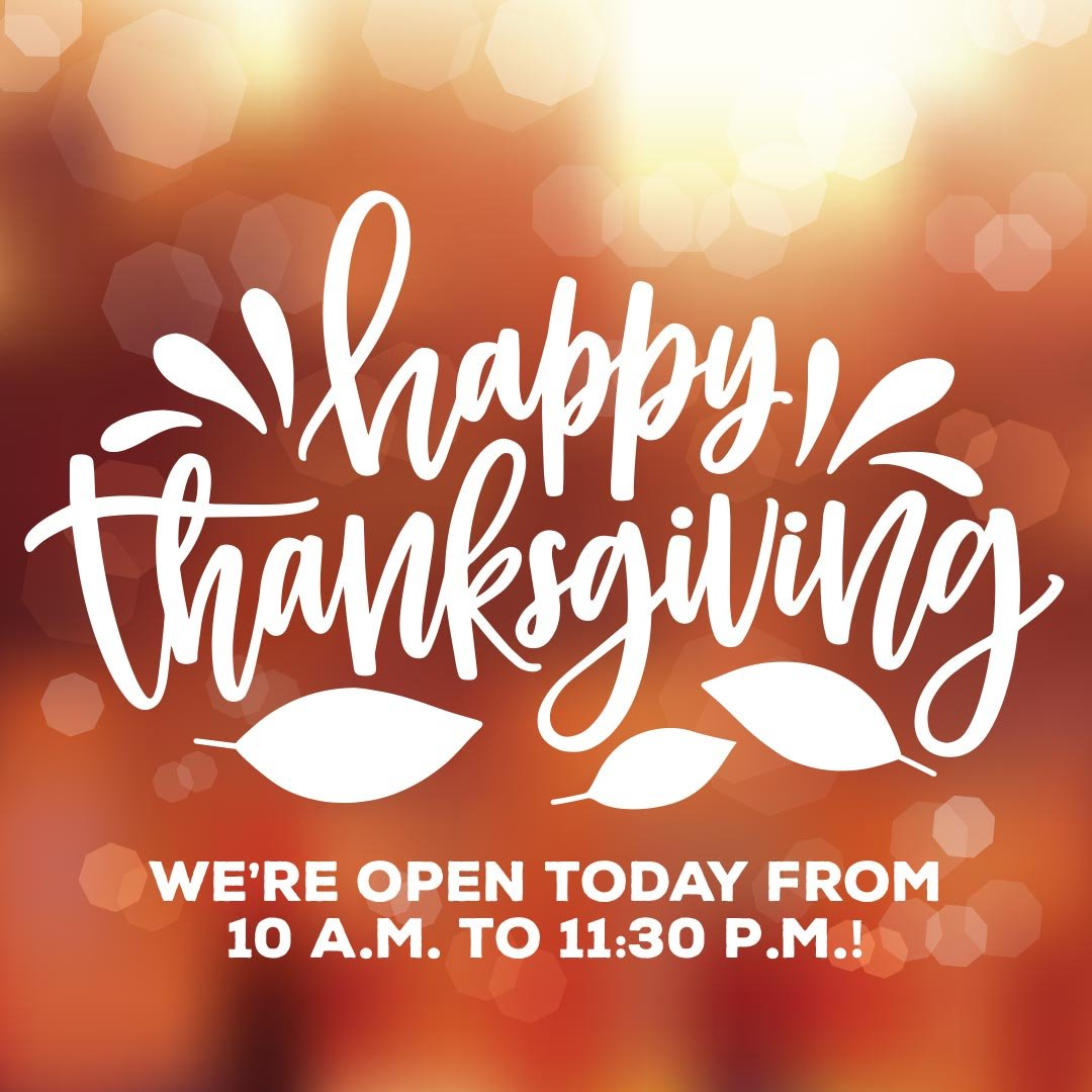 Happy Thanksgiving!  We are open today from 10:00 am to 11:30 pm. Grab the family and a few friends and come on down and start a new Thanksgiving Day tradition! #iceskating #unionsquarerink #holidayiceskating pic.twitter.com/WwP1sDgm3C