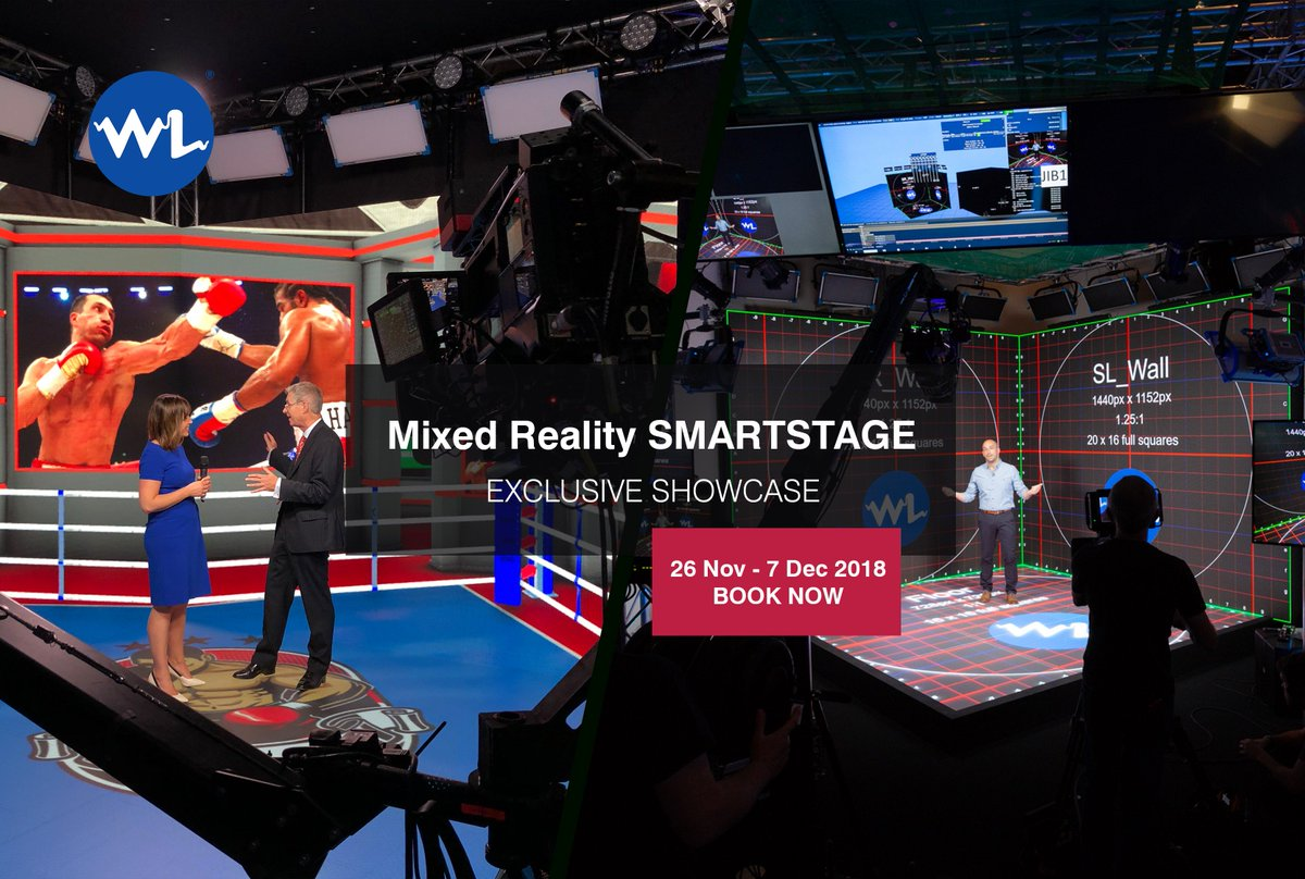 We're inviting you to a one-off mixed reality #SmartStage showcase in our London offices 26 Nov-7 Dec. Book a time with us via SmartStage@WhiteLight.Ltd.uk for a personalised session and experience the #IBC2018 award-winning technology that is reshaping broadcast services! <br>http://pic.twitter.com/Cejc9FcxwQ