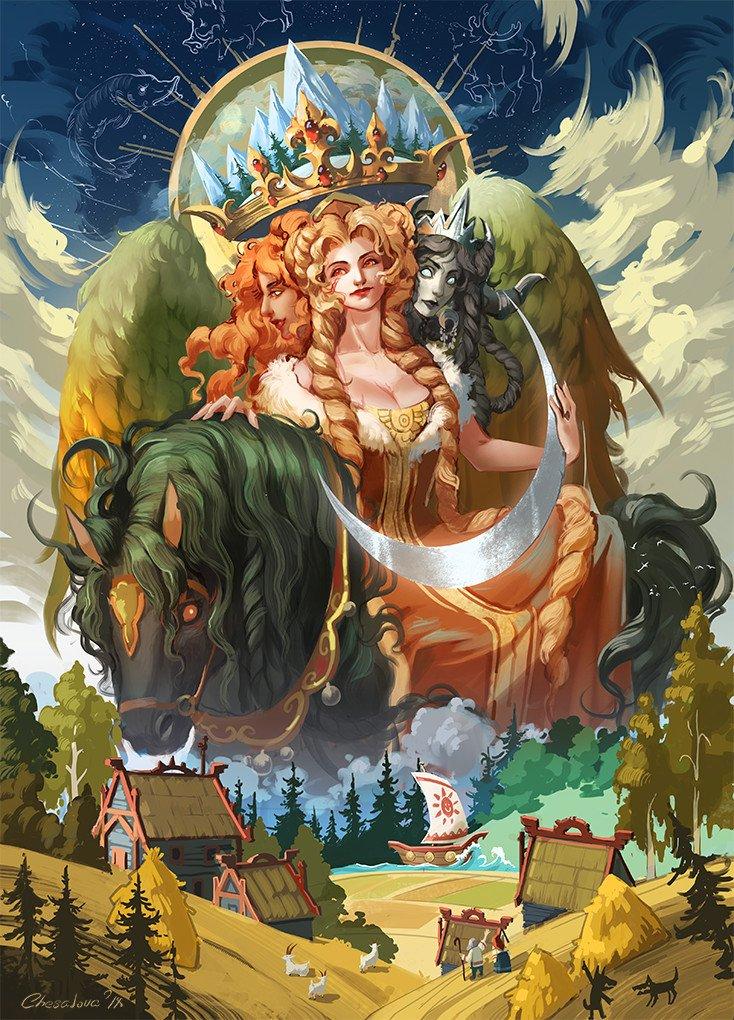 божества мифологии картинки людей поначалу