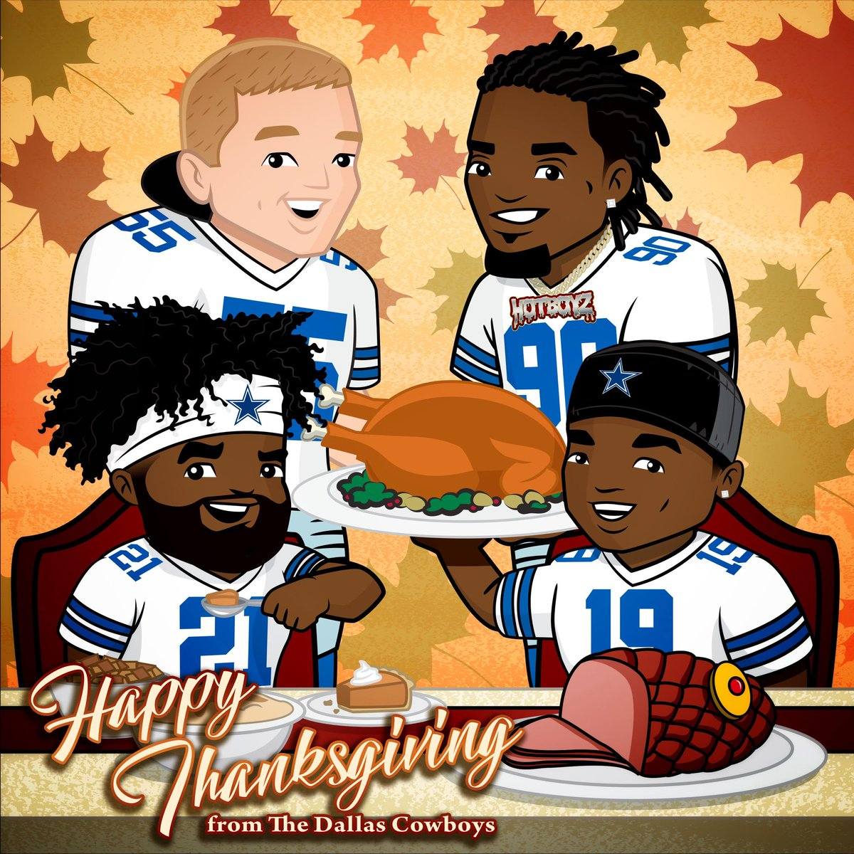 #HappyThanksgiving from our #DallasCowboys family to yours!