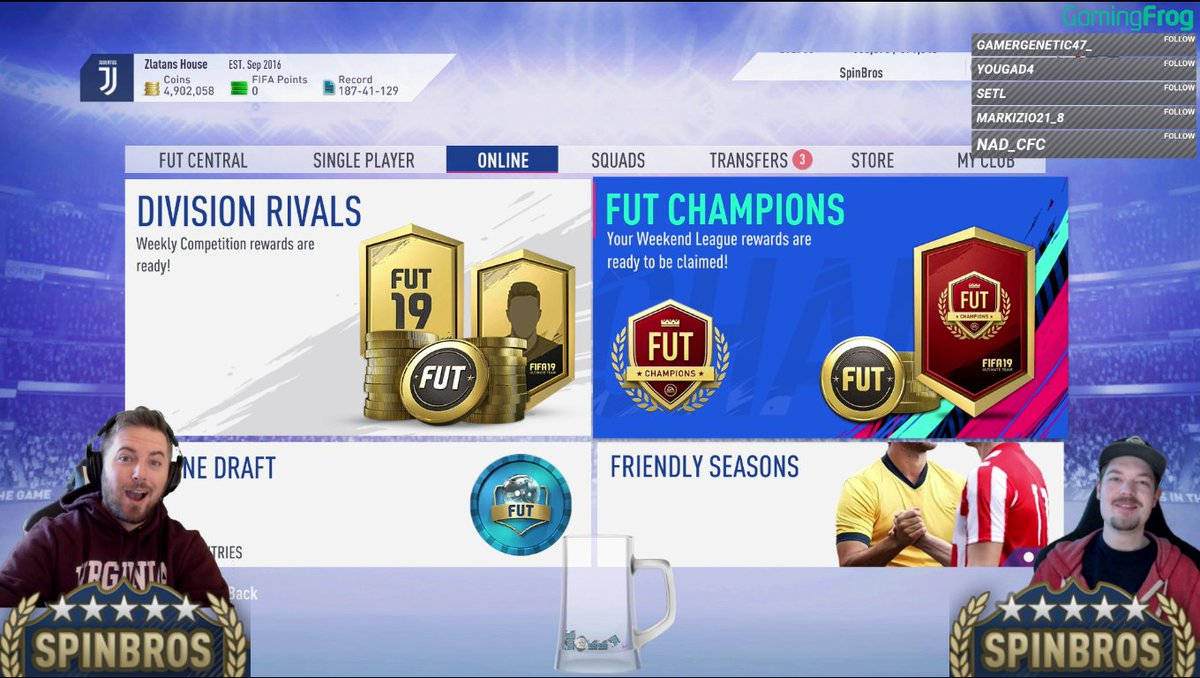 Opening now!!!   Rewards on 2 accounts!!!  http://Twitch.tv/SpinBros