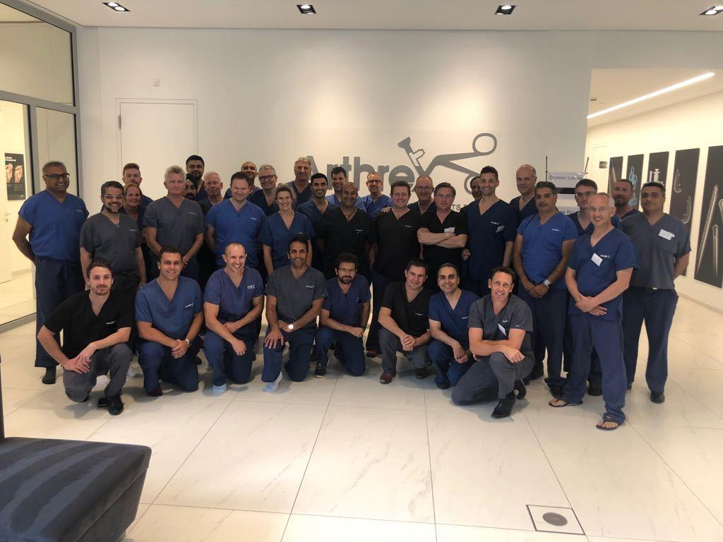 #TBT to having 40 of the UK's top knee surgeons joining us at the #ArthroLab in Munich for the first #ArthrexUK Technology & Innovation Forum. Another example of Arthrex's commitment to #MedicalEducation.#HelpingSurgeonsTreatTheirPatientsBetter #DiscoverArthrex #ThinkArthrex