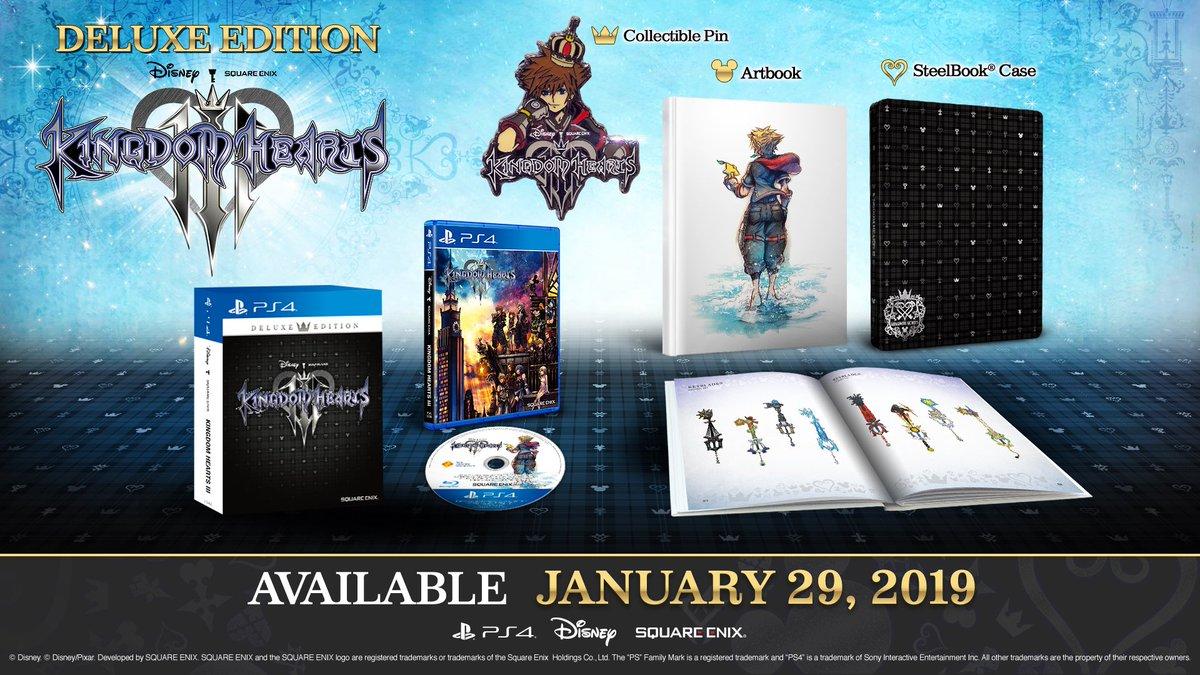 Kingdom Hearts 3 Disc Art And Artbook Cover Revealed News