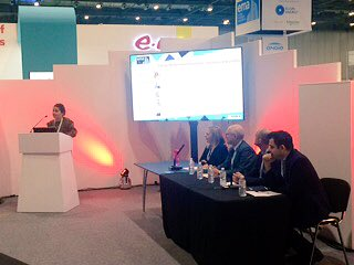 Rachel Toresen-Owuor on the 'Energy Performance Contracts: Successes and Pitfalls' panel this morning- thank you for having us @EMEXLONDON! There's still time to catch up with Rachel and Robert, though- swing by stand B36 for a chat and a choccy #energy #EMEX #Refit