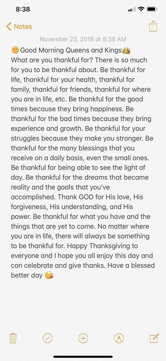 Good Morning #inspiration #InspirationalQuotes #Thanksgiving #ThankfulThursday #ThankfulQuotes <br>http://pic.twitter.com/hXdQAq8cMm