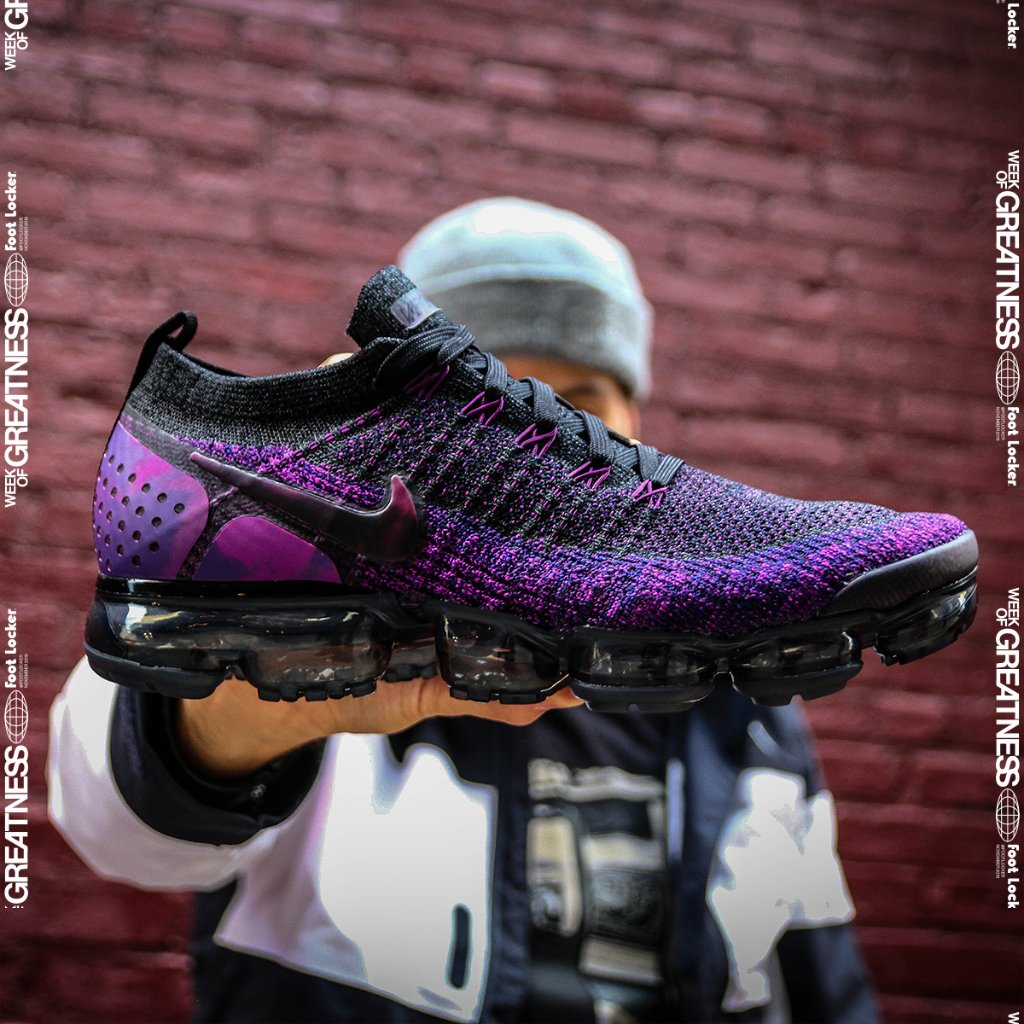 aa2836b2801ce @footlocker 6 months. nike air vapormax flyknit 2 night purple launching 11  23 in store and online