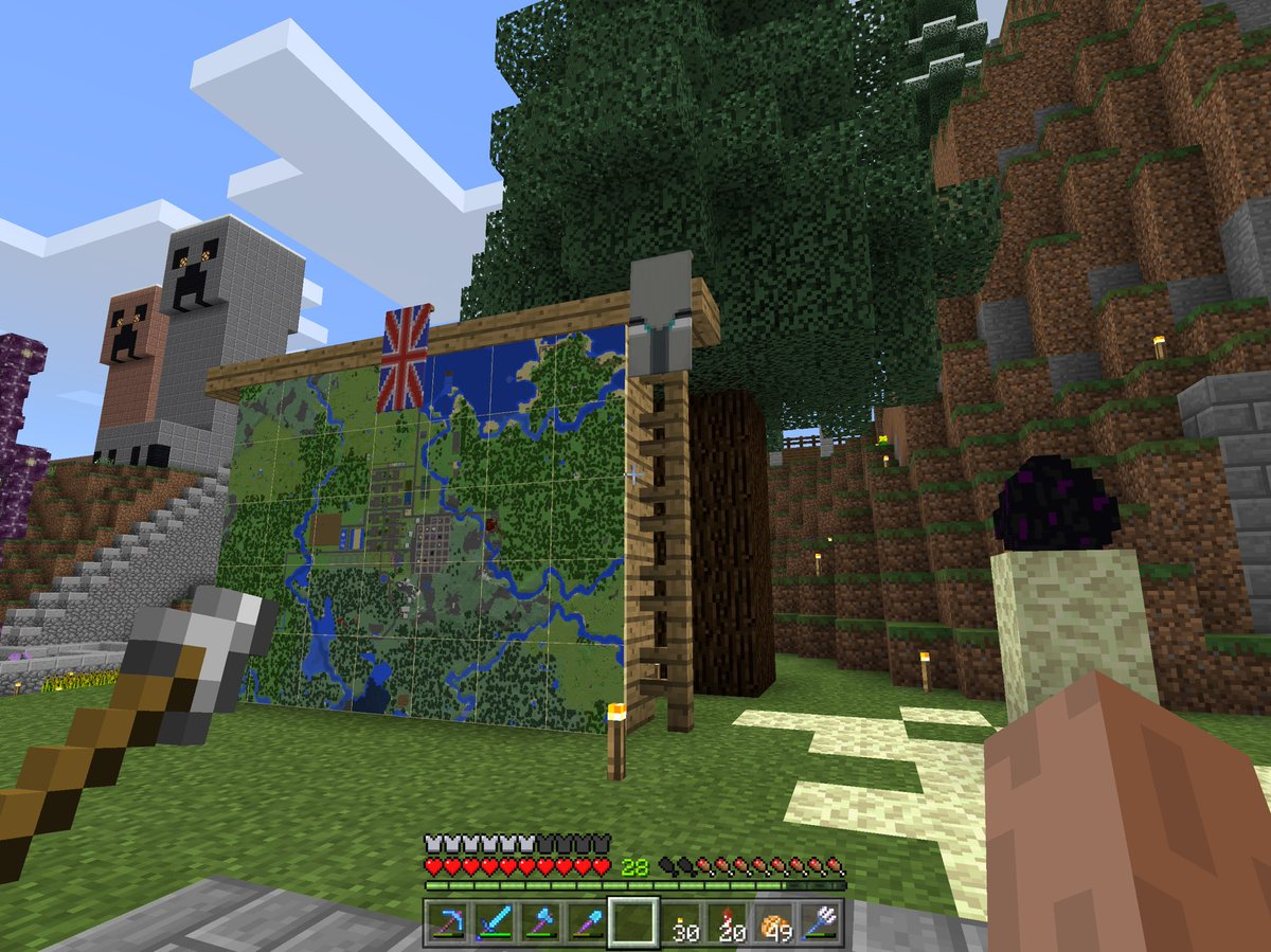 Made a Pillager Banner on my #MCPE/#Minecraft Realm, and placed it