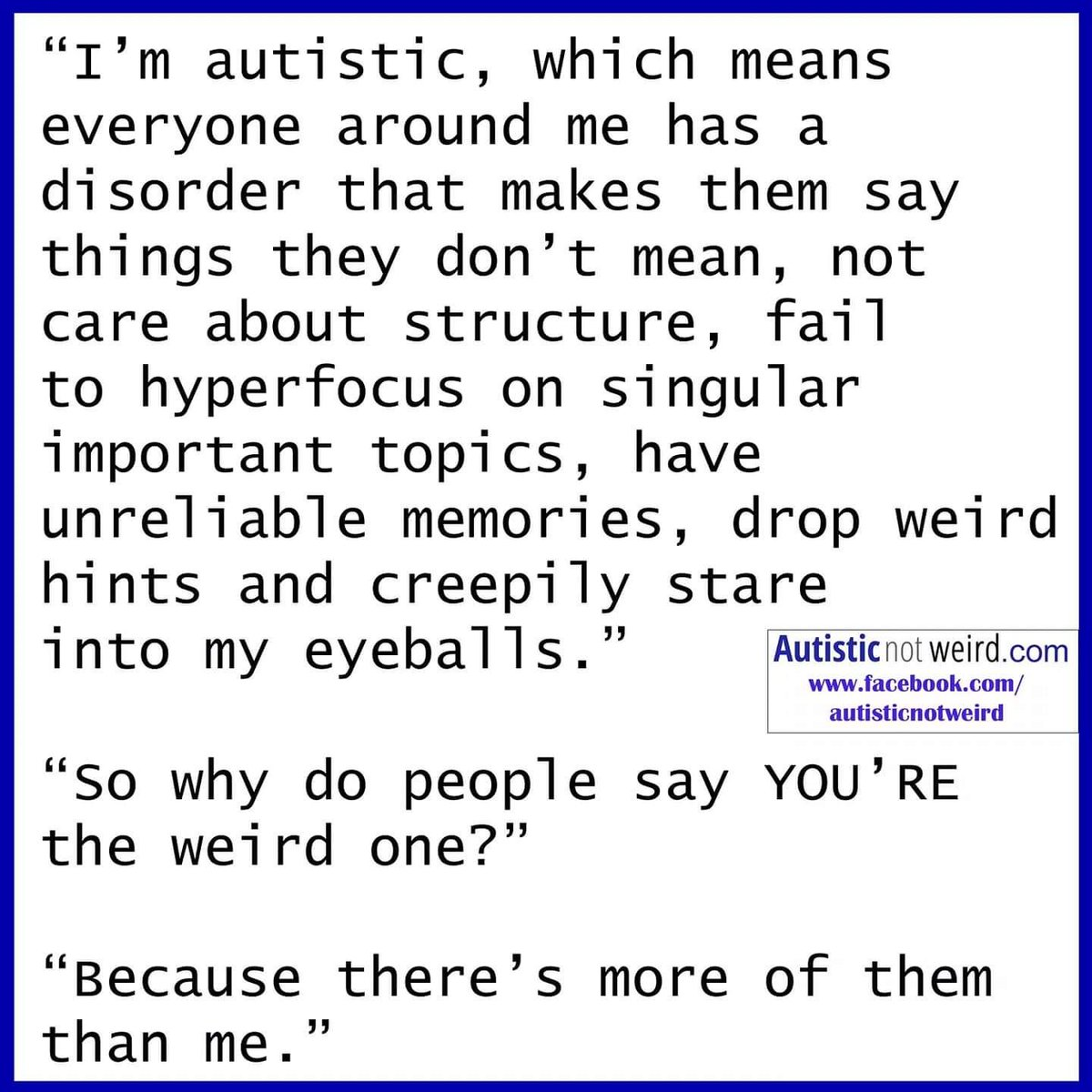 Unmasking Anxiety In Autism >> Autisticnotweird Hashtag On Twitter