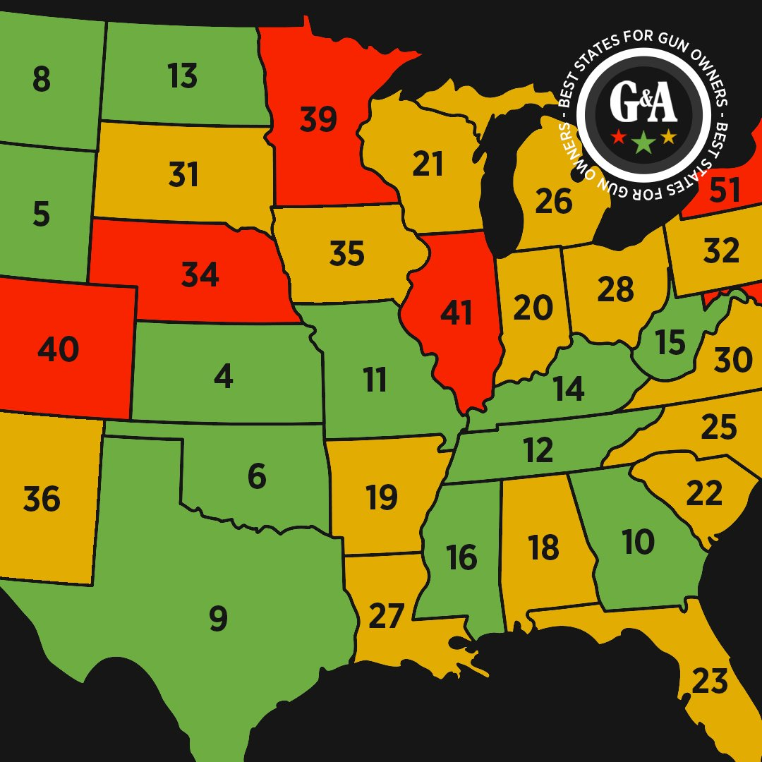 Gun Laws By State Map 2018.Guns Ammo Magazine On Twitter Are You Thankful For Your State S