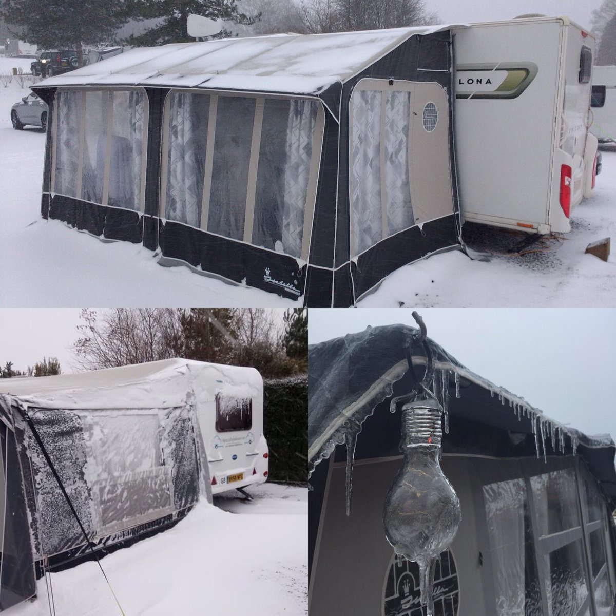 Isabella Products Can Handle Most Wintery Conditions So Do Not Let It Put You Off Going Away At This Time Of Year Caravan Awning Camping