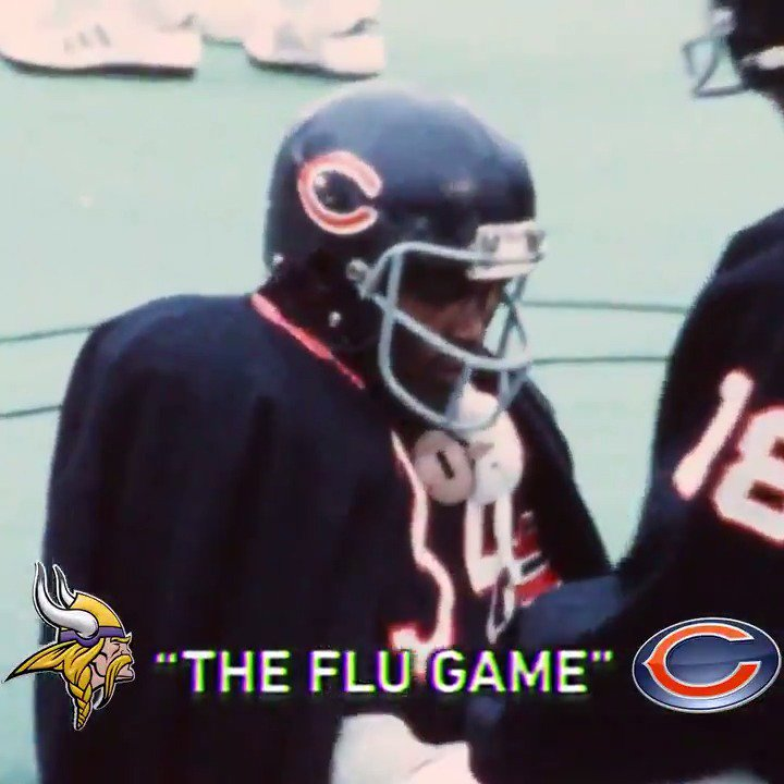 101-degree fever.  275 yards.  On this day in 1977, the flu was no match for Walter Payton. #TDIH @ChicagoBears
