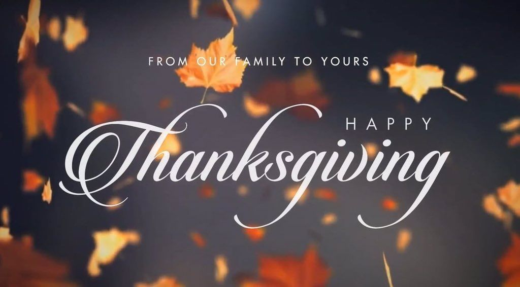 Happy Thanksgiving! Wishing you a wonderful holiday with your family and friends!