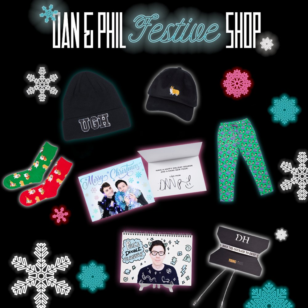 The Dan And Phil Festive Shop Is Here Loads Of New Merch