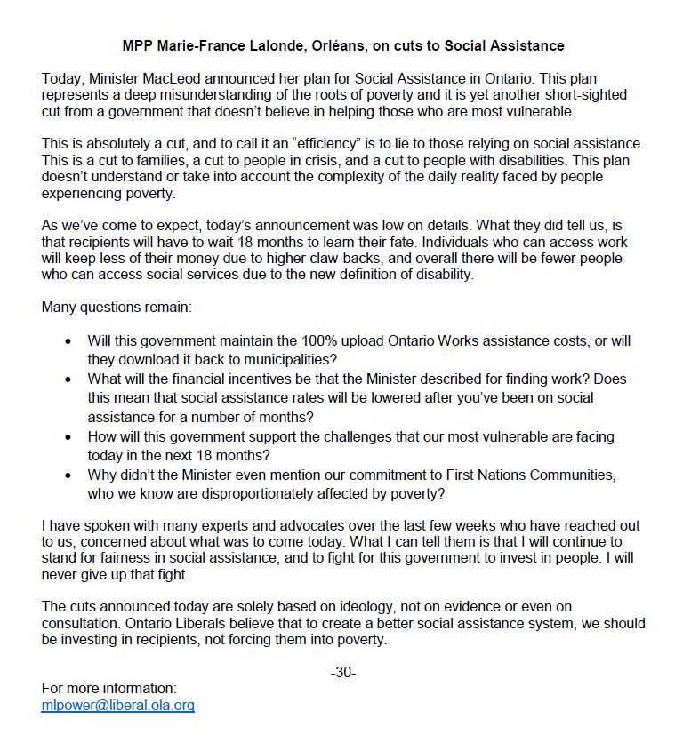 Disability Advocates Concerned By Plan >> Marie France Lalonde On Twitter Today S Announcement On