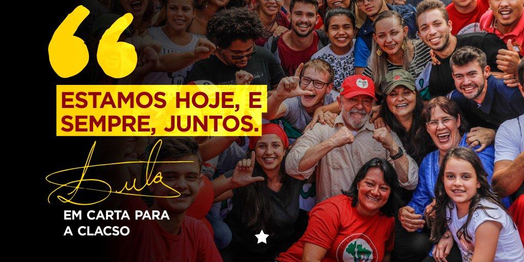 Contra as injustiças, pela democracia. Sempre juntos! #LulaLivre