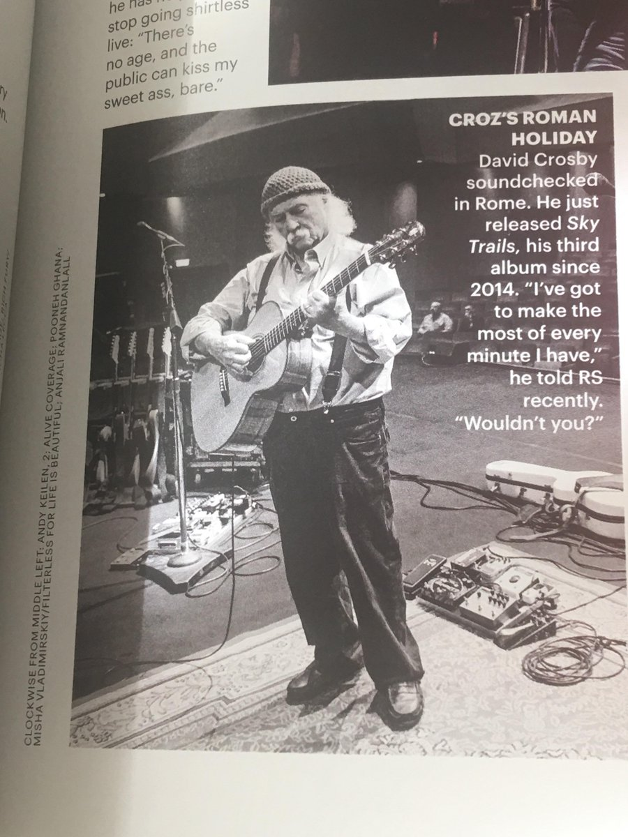 I would highly recommend (to check out my photo in the latest Rolling Stone) go see David Crosby &amp; the Lighthouse Band on tour! Two more weeks left, do not miss it peoples! @thedavidcrosby @RollingStone #DavidCrosby #HereIfYouListen #LightHouseBand #LiveMusic<br>http://pic.twitter.com/NoZA67Jcl1