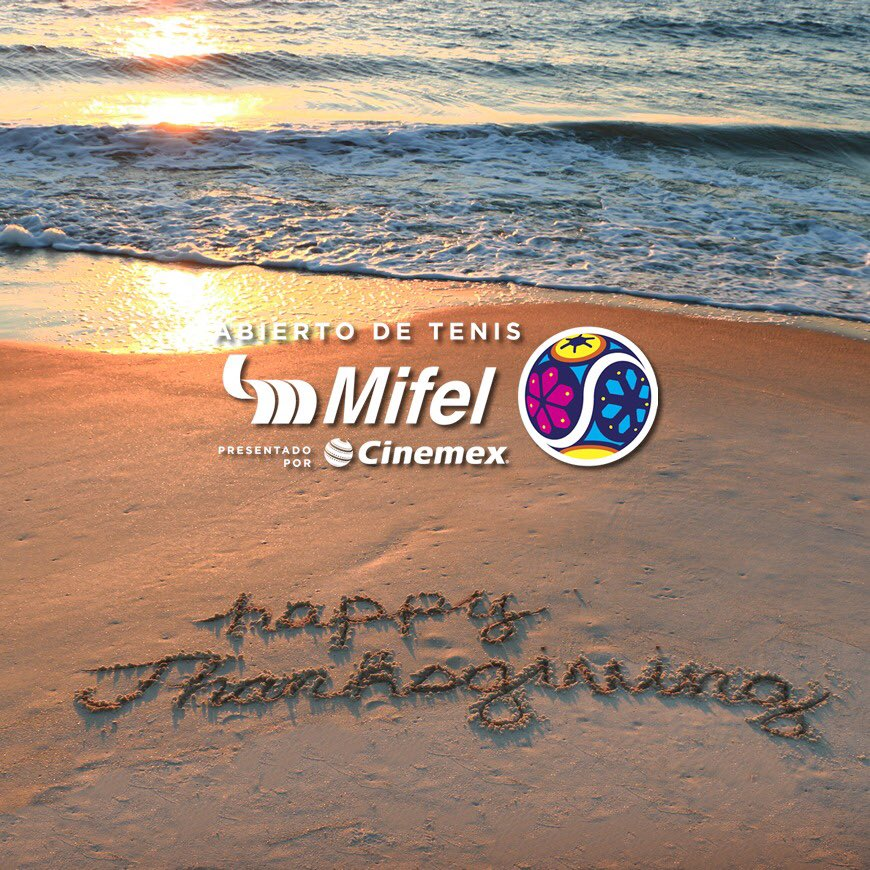 """""""There is always, always something to be thankful for."""" 😊 #HappyThanksgivingDay! 🦃 🎾 @ATPWorldTour"""