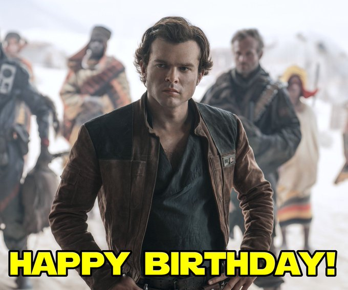 All of us at the SWU want to wish a very Happy Birthday to young Han Solo himself, Alden Ehrenreich!