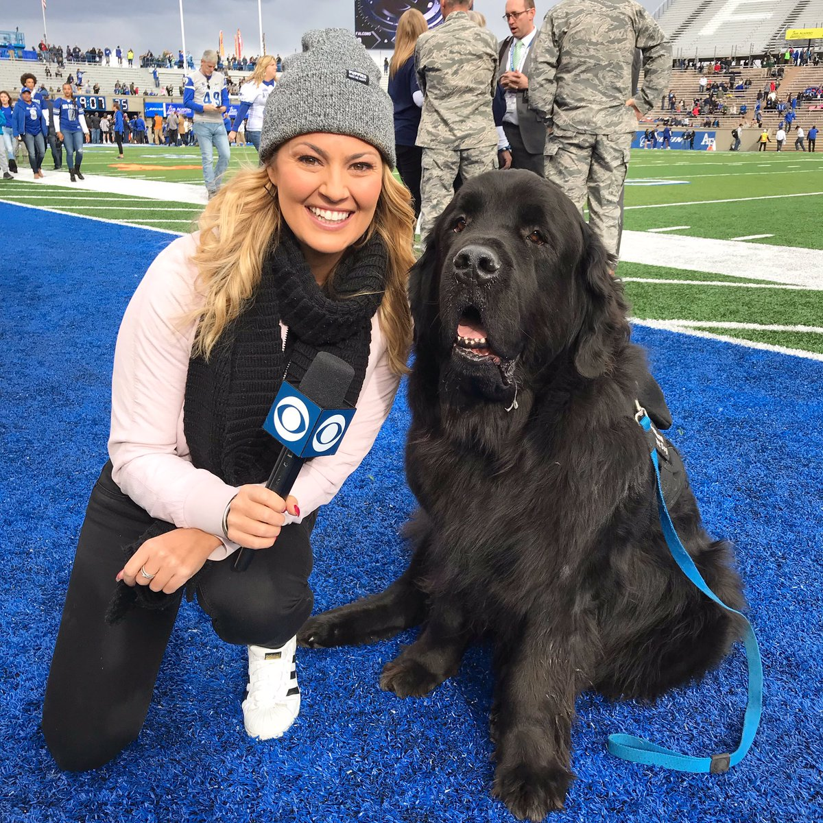 This is Cruiser. I'm very thankful for Cruiser. And my Mom. And football. Congrats on the win @AF_Football
