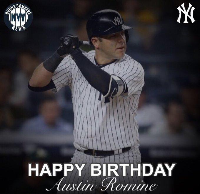 Happy birthday to Austin Romine!