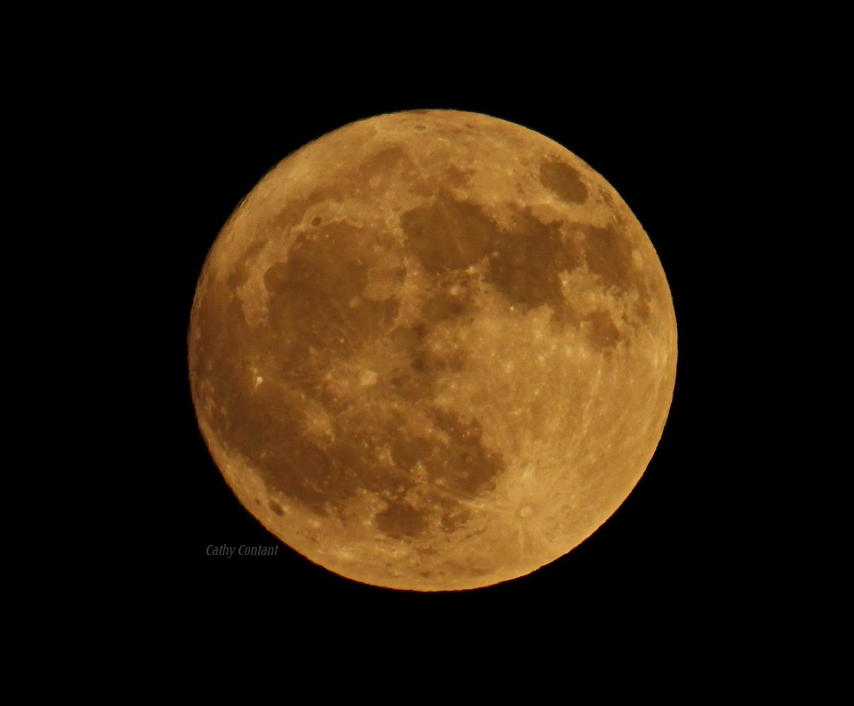 Beaver moon in the sky over the Finger Lakes (photo)