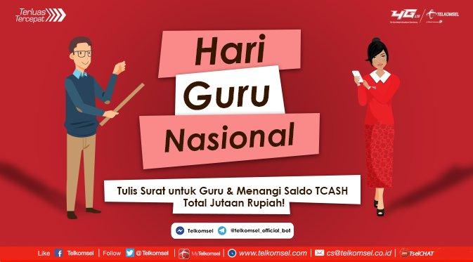 Telkomsel On Twitter Ayo Sambut Hari Guru Nasional