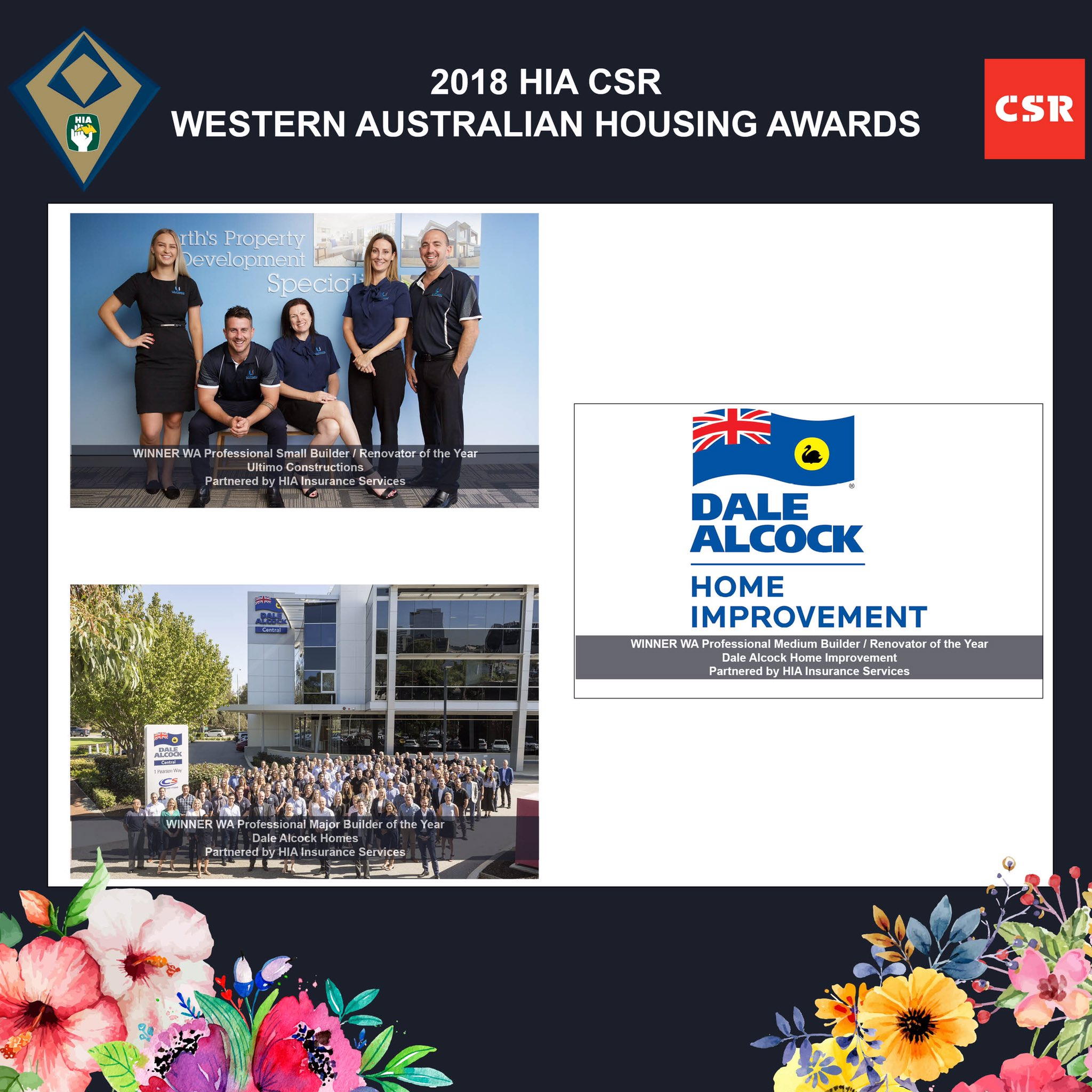 Cath Hart On Twitter Give It Up For Our Winners Of Professional Small Medium And Major Builders Of The Year Ultimo Constructions Dale Alcock Home Improvement And Dalealcockhomes Hiamembers Hiaawards18