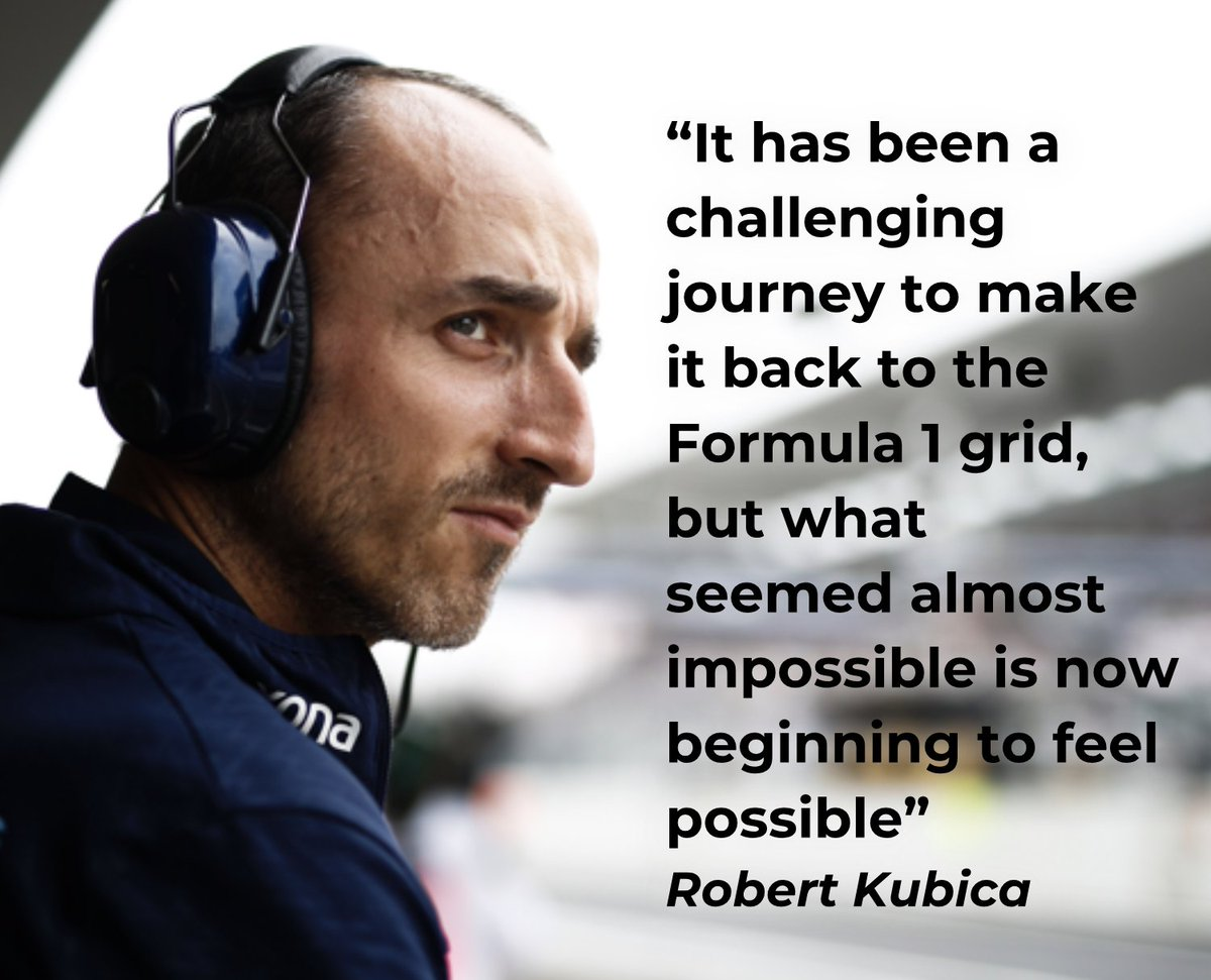 Welcome back to #F1 Robert Kubica! 👊Looking forward to having you and @WilliamsRacing back at the #SingaporeGP in 2019. 👋😊 f1.com/2PMJdn1 #Formula1   #WilliamsRacing